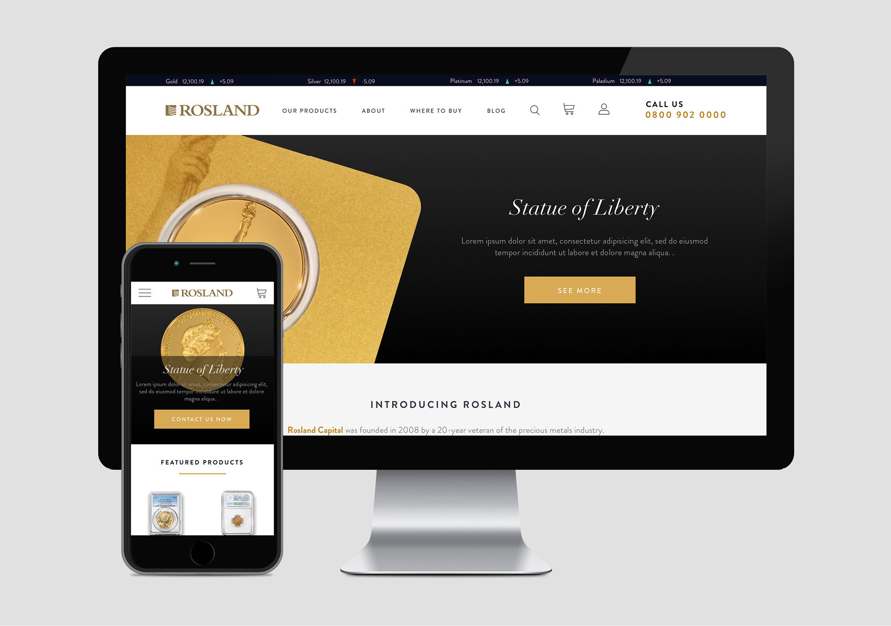 Rosland Gold Website
